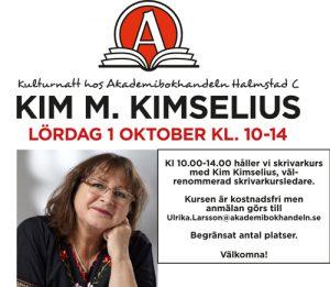 Skrivarkurs med Kim M Kimselius.