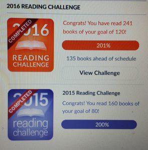 Goodreads Challenge 2016 och 2015