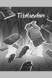 Första svartvita skissen på omslaget till Mysteriet med Guldgubbarna