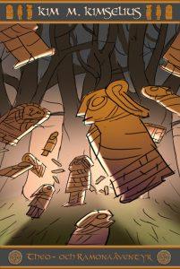 Här ser du färgskissen på Mysteriet med Guldgubbarna. Boken släpps 17 juni i Ronneby.